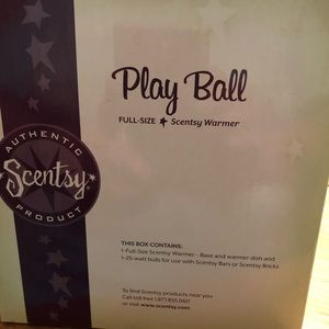 scentsy Accents - NIB Scentsy Baseball Full Size ( retired)